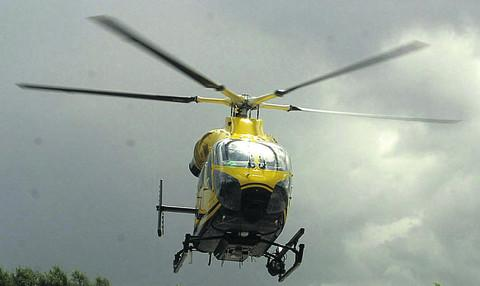 Woman airlifted to hospital after crash