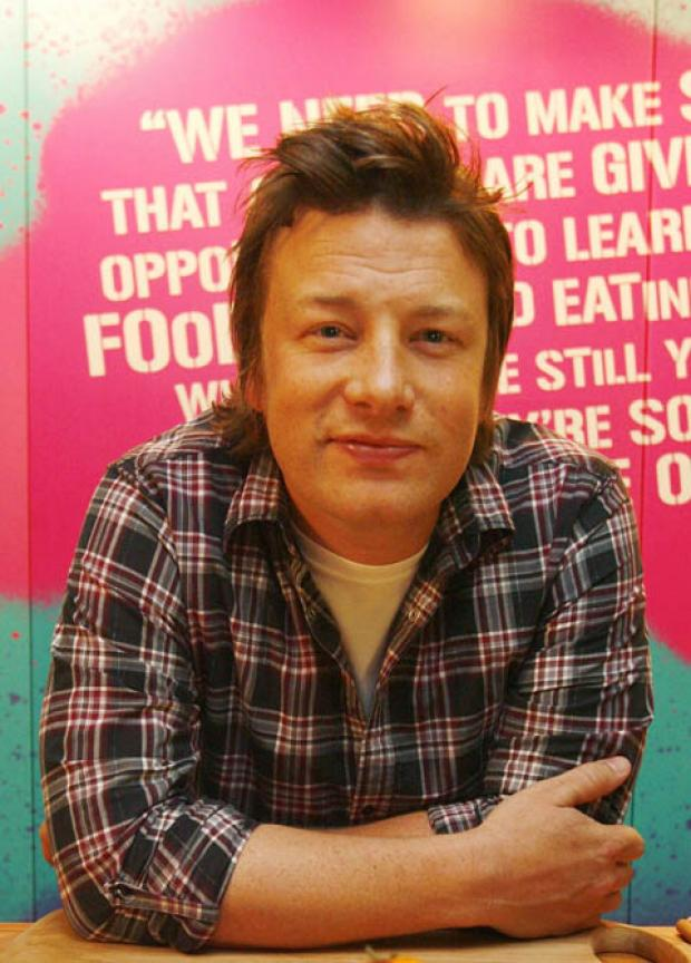 EXCITED: Jamie Oliver