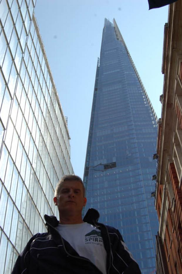 ABSEIL: Paul Lawrence in front of the shard