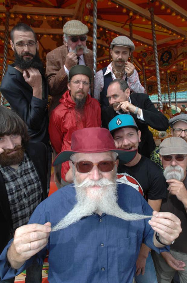 BEARDY: Contestants in the upcoming British Beard and Moustache championships