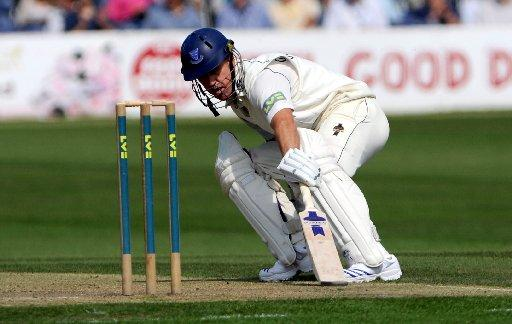 One more time: Murray Goodwin bats for the last time at Hove today