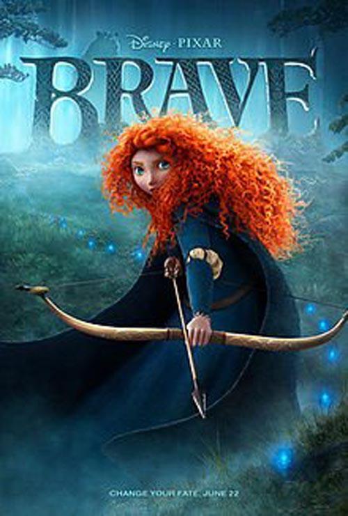 The DVD cover of Brave © Disney