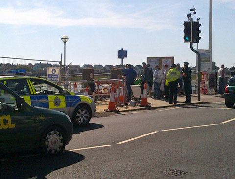 Shoreham footbridge closed due to unexploded shell