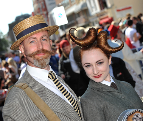 BEARDY: A hirsute gentleman in the parade