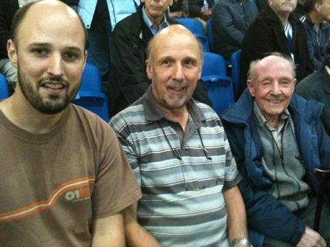 Guy, Ian and Les in the Amex's East Stand