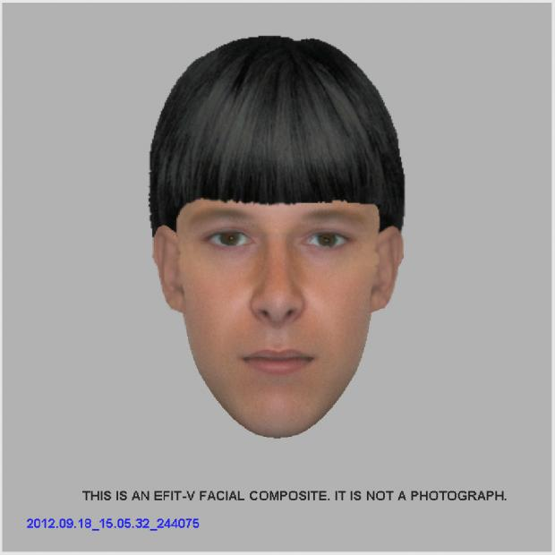 Sussex Police have released this image of a man they want to question in connection with a sex attack on a jogger in Eastbourne.