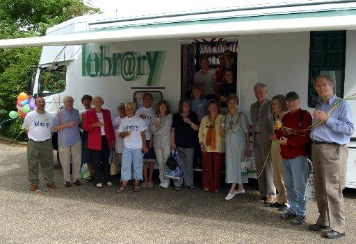 The official launch of the mobile library in 2004