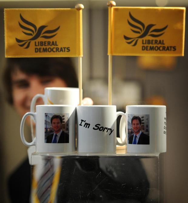 Pick up a Nick Clegg 'I'm sorry' mug at the Lib Dem conference in Brighton