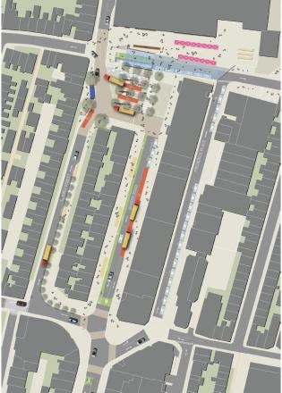 MAPPED: How the south entrance to the station will change under the plans