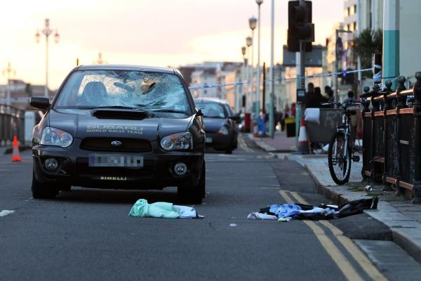 Pensioner seriously hurt following crash on Brighton Seafront