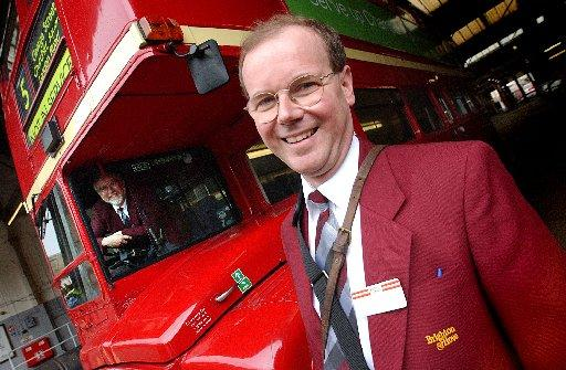 DELIGHTED: Roger French, managing director of Brighton and Hove Bus Company