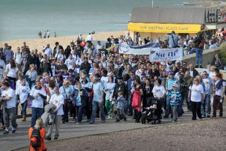 THOUSANDS of people showed their support for recovering drug and alcohol addicts by walking through the city on Saturday.