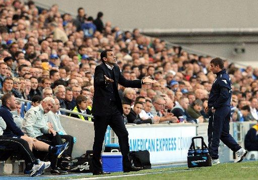 Gus Poyet is not happy on the touchline