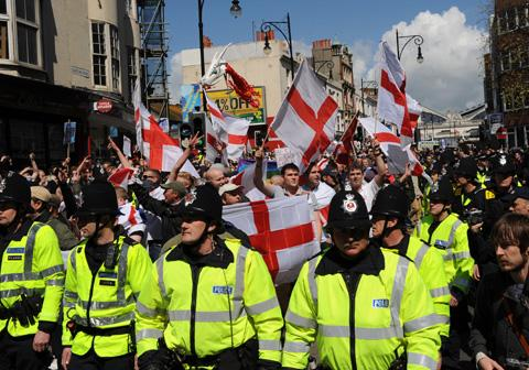 Last year there were scuffles across the city and a handful of arrests when March for England protesters clashed with opponents in Brighton.