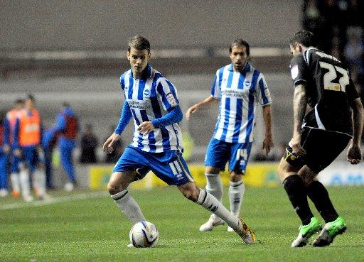 Andrea Orlandi in action for Albion last night. Picture by Simon Dack