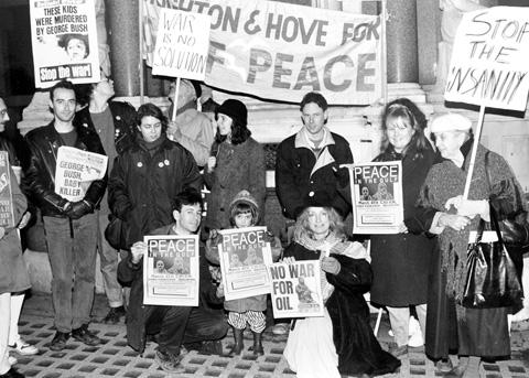 Peace protests, 1991