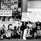 Arts cuts student protest, 1991