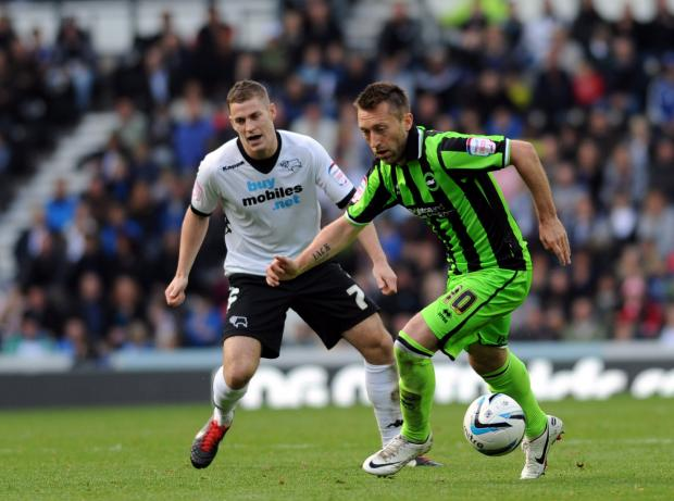 Stephen Dobbie action at Derby
