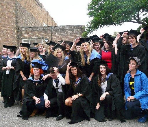 Northbrook College students at their graduation ceremony
