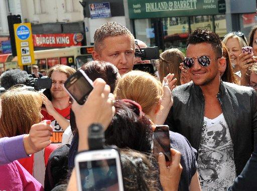 Peter Andre in Brighton this afternoon