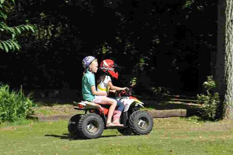 Emma Nathaniel on her charity quadbike drive
