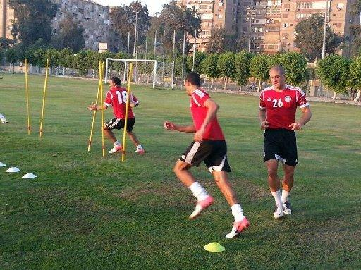 Adam El-Abd trains with Egypt