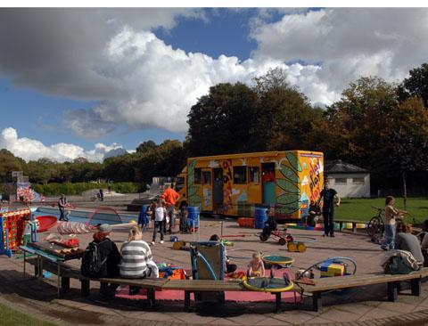 The Playbus on The Level on Saturday