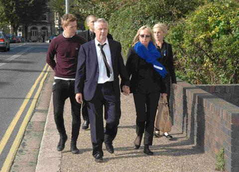 Connor Saunders family arrive at Hove Crown Court for the trial