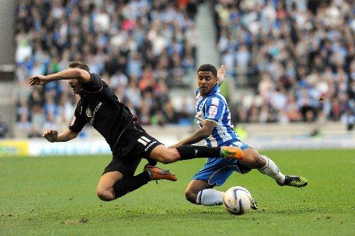 Liam Bridcutt in the thick of it in midfield