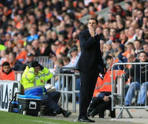 Gus Poyet and his side return to Blackpool today
