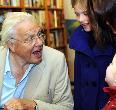Sir David meets a young fan
