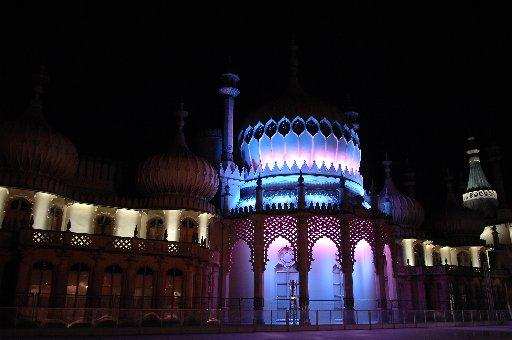 Brighton's Royal Pavilion is pretty in pink