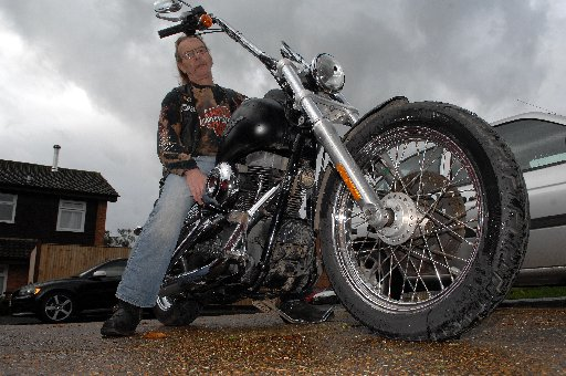 Stephan Heenan and his Harley