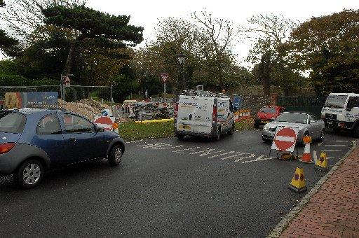 Drivers are frestrated by roadworks in Rottingdean