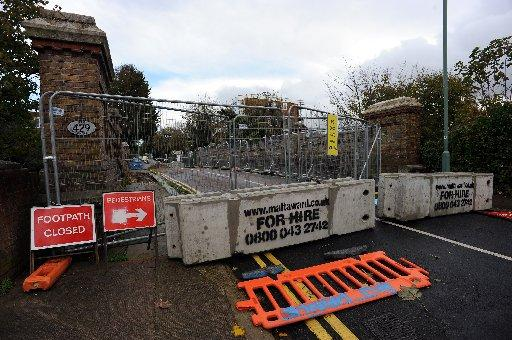 The bridge in Wilbury Villas, Hove, was closed in September after engineers discovered a crack in the iron structure crack
