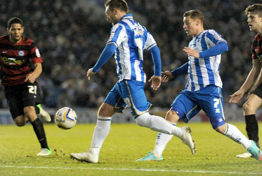 Stephen Dobbie scores against Peterborough