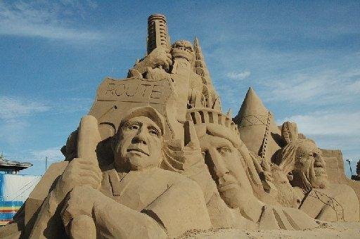 Sand sculptures from the Western-Super-Mare festival