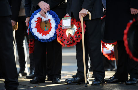 Wreaths were laid by veterans and uniformed organisations as well as representatives from Brighton and Hove City Council, MPs and the city Mayor