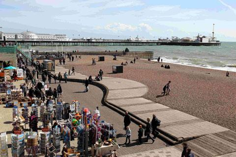 Faeces found floating off Brighton beach