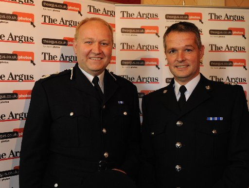 Chief Superintendent Graham Bartlett pictured at The Argus Achievement Awards earlier this month with Giles York