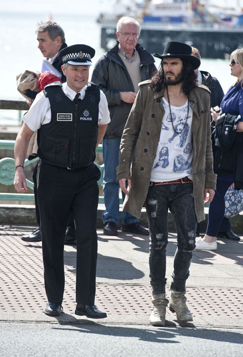 Chief Superintendent Graham Bartlett with film star Russell Brand