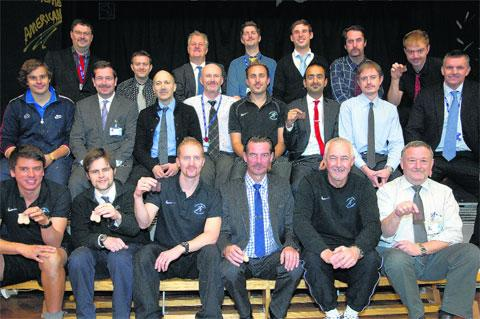 Patcham High School staff supporting a hirsute appendage to the upper lip