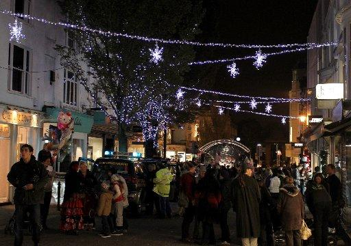 The Argus: Christmas lights in East Street, Brighton