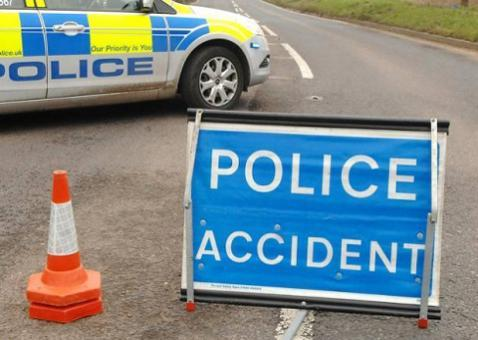 Three cars involved in collision near Crawley