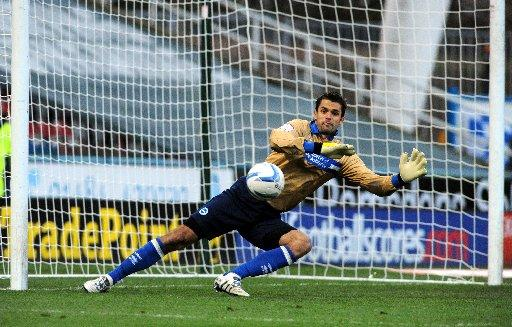Peter Brezovan in action at Huddersfield