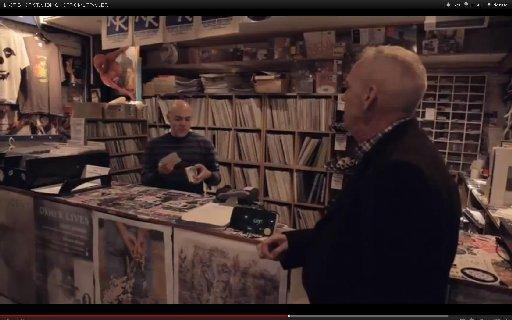 Norman Cook in Rounder Records in the film Last Shop Standing