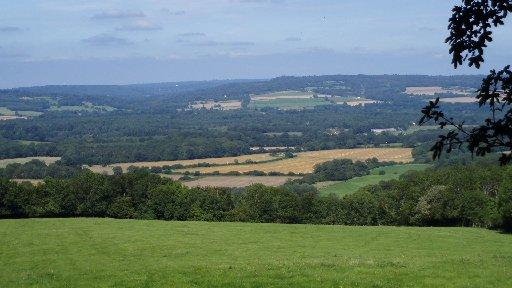 The Argus: View across the Weald from the South Downs Way