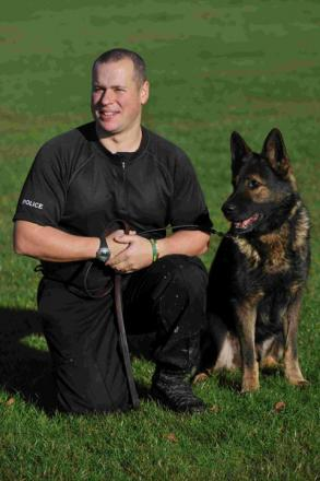 Sussex Police dog handler PC Will Durant