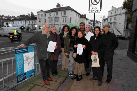 The Argus: Campaigners at Seven Dials