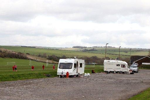 The Argus: Travellers parked up in the Waterhall car park